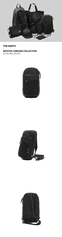 디얼스(THE EARTH) RIPSTOP CORDURA SLING BAG - BLACK